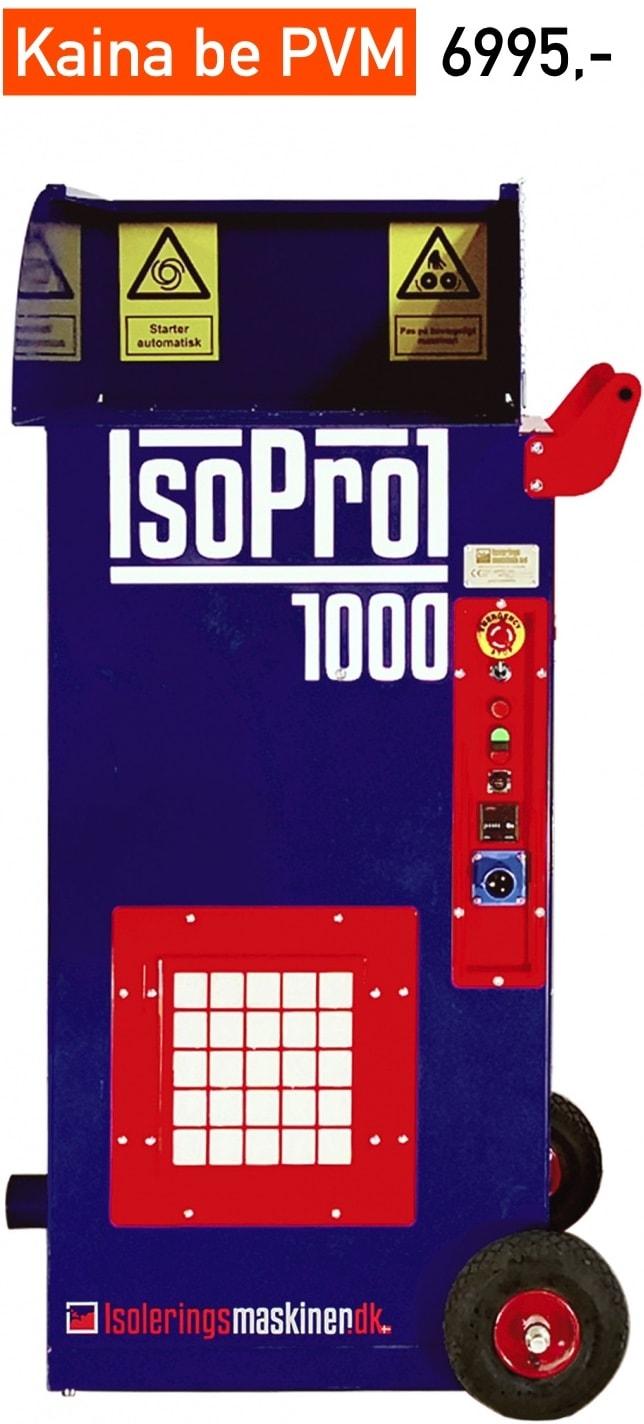 Birios siltinimo izoliacijos putimo masina profesionaliam naudojimui Isolerings Maskinen IsoPro 1000 kaina